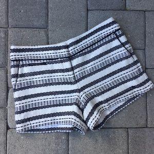 Ann Taylor Loft Riviera Shorts Off-White Black 6